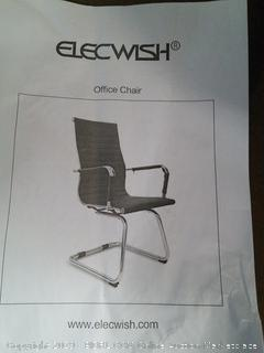 Elecwish Office Chair, Broken Hinge & Rip in Seat