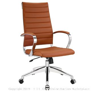 Modway Jive Ribbed High Back Executive Office Chair, Terracotta Vinyl (Online 179.81)