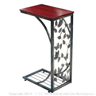Gramercy Elegant Metal Side Sofa Table – Butterfly Design (Online $89.99)