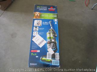BISSELL PET HAIR ERASER LIFT-OFF (POWERS ON)