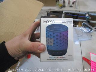 iHome Color Changing rechargeable Wireless Speaker