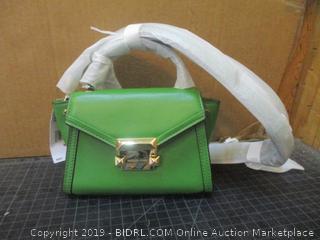 Michael Kors Whitney True Green Mini Messenger Leather  MSRP $228.00