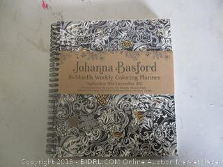 JOHANNA BASFORD WEEKLY COLORING PLANNER