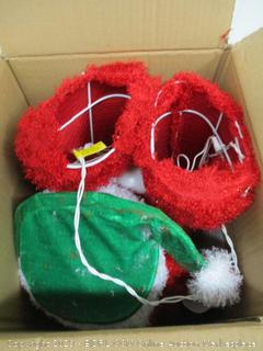 Pre Lit Christmas Yard Art Elmo