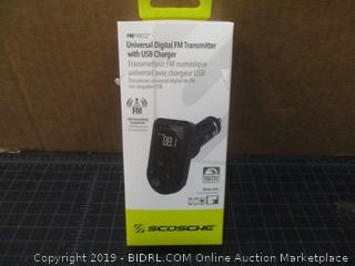 Scoschg Universal Digital FM Transmitter with USB Charger