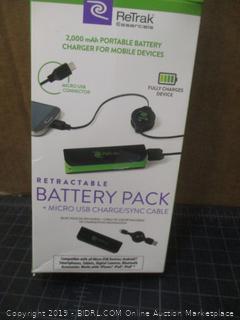 ReTrak Retractable Battery Pack