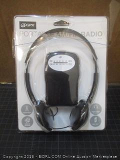 GPX Portable SM/FM Radio Headset