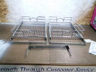 Rev-A-Shelf Cabinet Pull-Out Chrome Wire Shelves