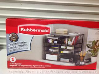 Rubbermaid Adjustable Shelves 12 Slot Organizer