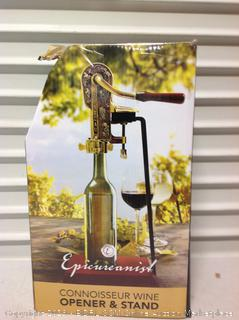 Connoisseur Wine Open & Stand, wood on bottom chipped (Online $96.99)