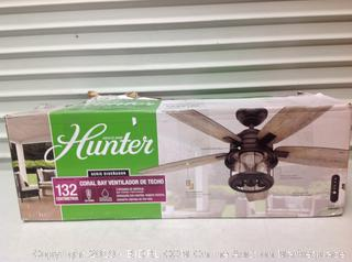 Hunter Coral Bay Ceiling Fan, Missing Glass