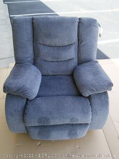 Signature Design by Ashley Henderson Pad-Arm Rocker Recliner (Retail $500) Gray