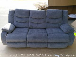 Signature Design by Ashley Henderson Pad-Arm Reclining Sofa (Retail $1300) Gray