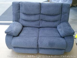 Signature Design by Ashley Henderson Pad-Arm Reclining Loveseat Gray (Retail $1200)