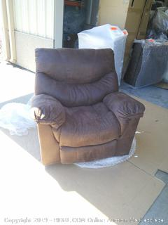 Ashley Signature Design Holton Rocker Recliner (Retail $1200) Frame is broke near brackets on top piece