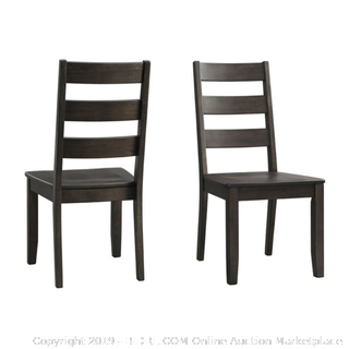 Dining Possibilities Ladder Back Chairs - Set of 2 (Retail $300)