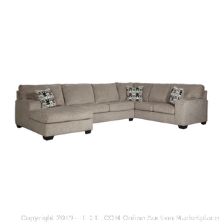 Ashley Signature Design Ryder 3-pc Sectional and Ottoman Platinum Color (retail $2800)