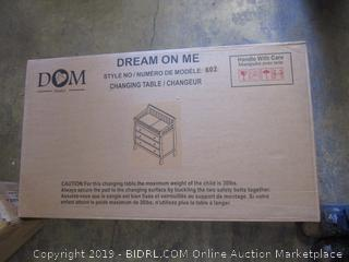 dream on me changing table - sealed