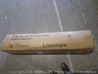 "linenspa 8"" spring and memory foam hybrid mattress"