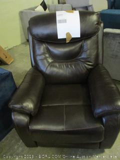 brown leather recliner - powers on