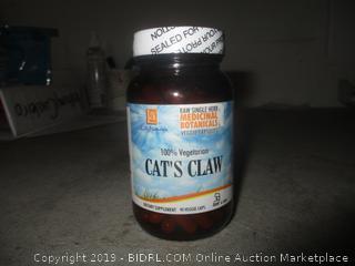 cat's claw raw single herb medicinal botanicals veggie capsules