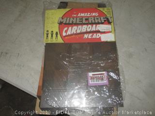 the amazing minecraft cardboard heads
