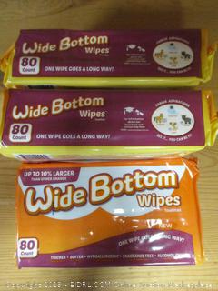 Wide Bottom Wipes