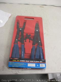 "Cal Hawk 2 pc 16"" Jumbo Snap Ring Pliers Set"