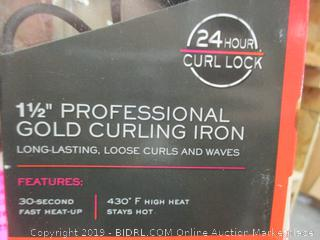"1 1/2"" Professional Gold Curling Iron"