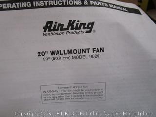 Wallmount Fan