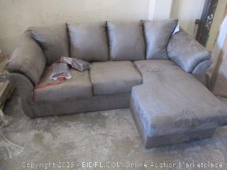 Sofa with Chaise Dirty, damaged See Pictures