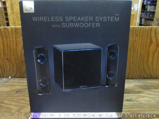 Wireless Speaker System with Subwoofer