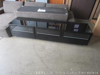 Entertainment Cabinet TV Stand (broken corner, drawers still work)