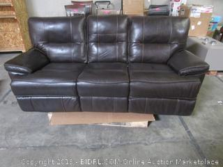 Brown Leather Power Recliner Couch