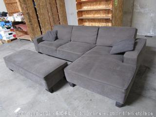 Gray Fabric Sectional Couch