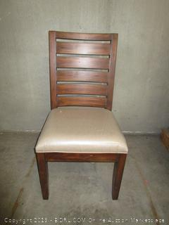 Wood & Fabric Dining Chair
