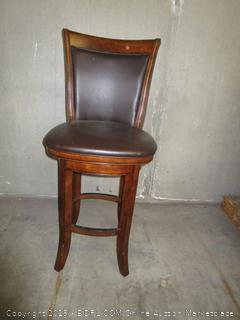 Brown Wood/Leather Dining Chair