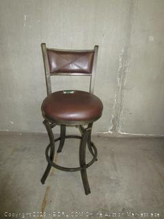 Brown Leather Barstool Chair