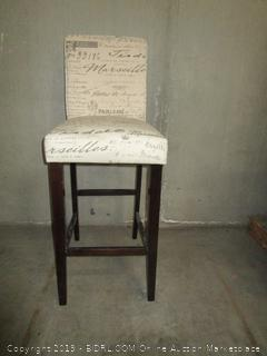 French Script Bar Stool Chair