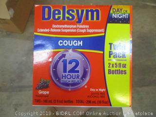 Delsym Twin Pack Cough 12 hour relief