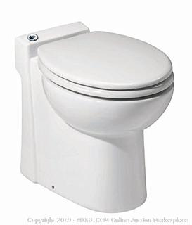 Saniflo 023 Sanicompact Self-Contained Toilet, White (Retail $913.00)