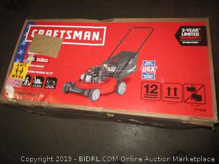 Craftsman M105 140cc 21-Inch 3-in-1 Gas Powered Push Lawn Mower with Bagger (Retail $229.00)