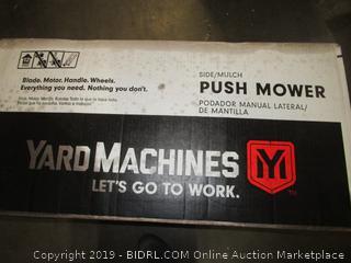 Yard Machines 140cc 21-Inch Push Mower (Retail $213.00)