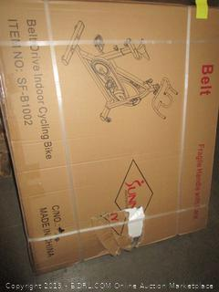 Sunny Health & Fitness SF-B1002 49lb Flywheel Belt Drive Indoor Cycle Bike (Retail $299.00)