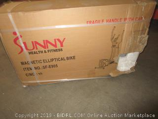 Magnetic Elliptical Machine Trainer by Sunny Health & Fitness - SF-E905 (Retail $139.00)