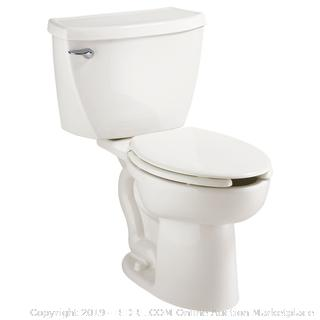 American Standard 2462.100.020 Cadet Flowise Pressure Assisted Elongated Two-Piece Toilet with EverClean, White (Retail $320.00)