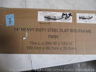 Heavy Duty Steel Slat Bed Frame Twin