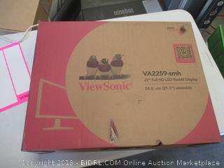 VIEWSONIC FULL HD LED BACKLIT DISPLAY MONITOR