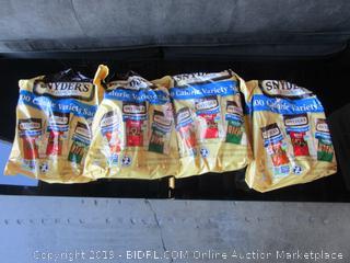 4x Bags of Snyder's variety sack Pretzels