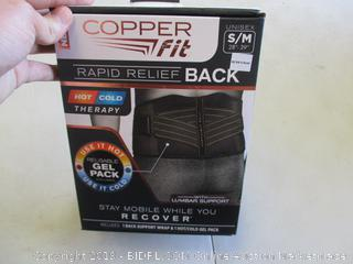 COPPER FIT RAPID RELIEF BACK